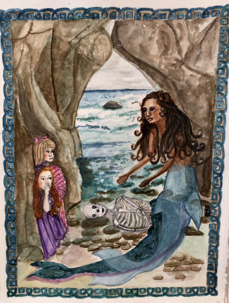 Artistic interpretation of the Tiree mermaid story by Pamela Campbell Bickford